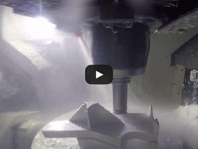 Video from inside 5-axis mill