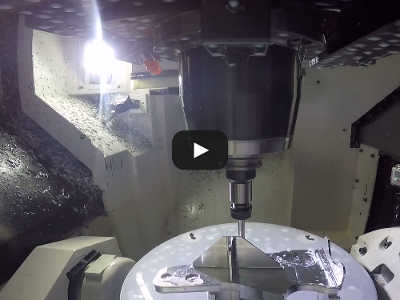 Video from inside 5-axis mill no coolant